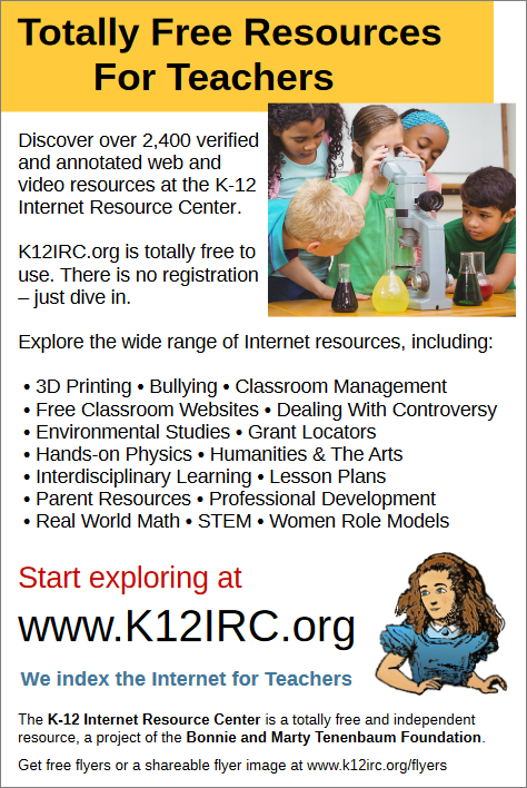 K12IRC.org flyer - Totally Free Resources For Teachers