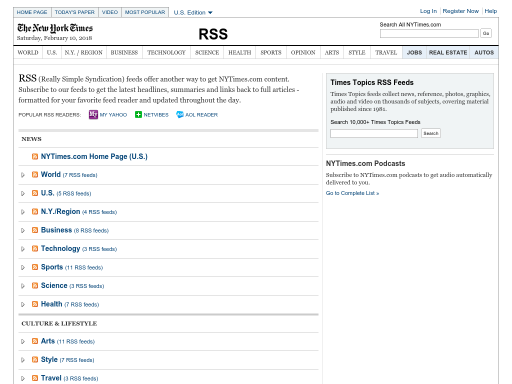 Keeping Current Using RSS Feeds - K-12 Internet Resource Center